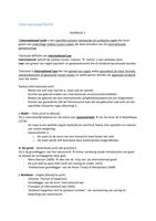 SUMMARY: Samenvatting Internationaal Recht h1 t/m h6