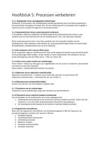 SUMMARY: Procesmanagement in de praktijk Hoofdstuk 5