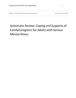 THESIS: Coping and Supports of Family Caregivers for Adults with Serious Mental Illness