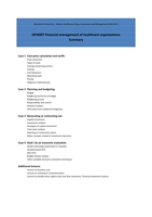 SAMENVATTING: HPI4007 Financial management of healthcare organizations summary (year 2016/2017)