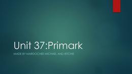 PRESENTATION: Unit 37 P1 P2 M1 POWERPOINT