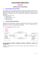 SUMMARY: MNG2601 General Management - Study Notes