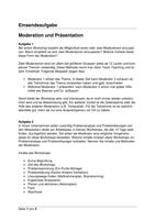Prüfung: Einsendeaufgabe Moderation und Präsentation