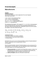 Prüfung: Einsendeaufgabe Makroökonomie