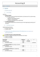 SAMENVATTING: Samenvatting Vennootschapsboekhouden