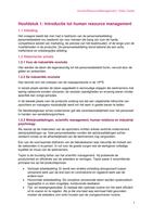 SAMENVATTING: Samenvatting Human Resource Management 2&3e Bach HW