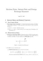 COLLEGEDICTAAT: Revision Notes FM07 Interest Rate and Foreign Exchange Dynamics