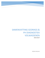 SAMENVATTING: Samenvatting gedrags- en persoonlijkheidsdiagnostiek van volwassenen