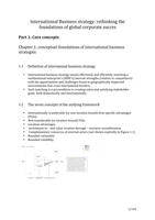 SAMENVATTING: Multinational Strategic Planning