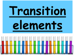 OVERIG: Revision Powerpoint on Transition elements OCR Chemistry A level 2015