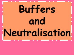 OVERIG: Revision Powerpoint on Buffers OCR Chemistry A level 2015