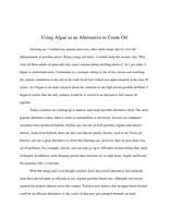 ESSAY: Using Algae as an Alternative Crude Oil