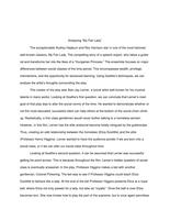 """ESSAY: Analyzing """"My Fair Lady"""" Essay"""