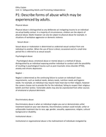 ESSAY: unit 11 Safeguarding Adults and promoting Independence P1,P2,P3