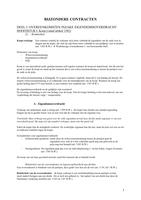 SUMMARY: Samenvatting Bijzondere contracten
