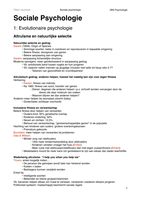 SAMENVATTING: Sociale psychologie II