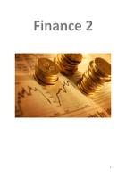 SAMENVATTING: Samenvatting Finance 2 inc. college sheets excl. hoofdstuk 30
