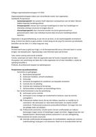 LECTURE NOTES: colleges organisatiewetenschappen