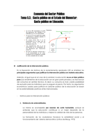 NOTES DE COURS: TEMA 5.3: ECONOMÍA DEL SECTOR PÚBLICO I