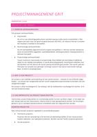 SAMENVATTING: Projectmanagement Gritt