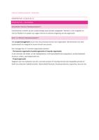 SAMENVATTING: Projectmanagement Verhaar