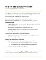 SAMENVATTING: Samenvatting: Rol van Job Crafting bij Welbevinden (Tijdschrift voor Management en Organisatie)