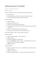 SAMENVATTING: Political Science Exam Notes
