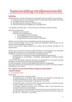SAMENVATTING: Samenvatting strafprocesrecht