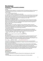 SAMENVATTING: Microbiologie