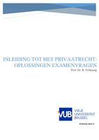 Examen: Beginselen van het privaatrecht - Examenvragen oplossingen