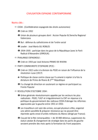 NOTES DE COURS: Fiche civilisation espagnole (L1 - S1)