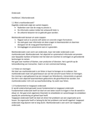 RESUME: samenvatting boek marktonderzoek A-cluster