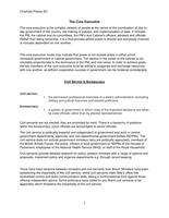 NOTES DE COURS: GOVP2 Core Executive & Civil Service Notes- FULL