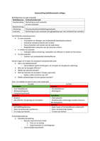 NOTES DE COURS: Samenvatting bedrijfsevaluatie colleges