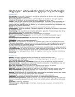AUTRE: begrippen ontwikkelingspsychopathologie