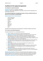 SUMMARY: Anatomie en fysiologie een inleiding, hoofdstuk 16 (16.1 t/m 16.10)