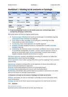 SUMMARY: Anatomie en fysiologie een inleiding, hoofdstuk 1 (1.1 t/m 1.7 en spotlight 1-10)