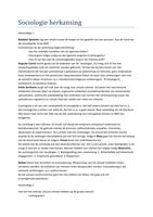 SUMMARY: Samenvatting hoorcolleges inleiding sociologie