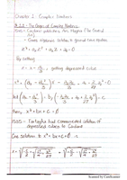 LECTURE NOTES: Origin of Complex Numbers
