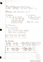 LECTURE NOTES: The Algebra of Complex Numbers