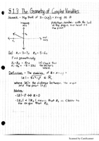 LECTURE NOTES: The Geometry of Complex Variables