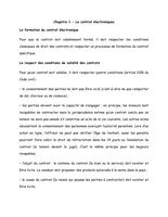NOTES DE COURS: Chapitre 1 - Le contrat lectroniques