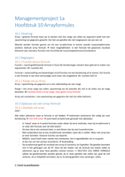 SAMENVATTING: Managementproject 1a Excel H1-H9 Ed Van Stee