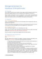 SAMENVATTING: Managementproject 1a H10-H13 Ed Van Stee