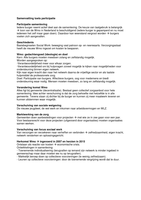 SAMENVATTING: Samenvatting participatie