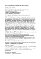 COLLEGEDICTAAT: Hoorcollege aantekeningen Various Branches of International Law