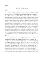 CASE: ITM707 - GE and the Industrial Internet
