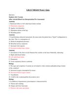 Exam: GRAN NRS410 Week 1 Quiz