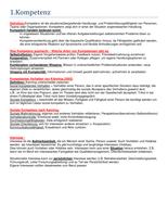 ZUSAMMENFASSUNG: Zusammenfassung Kompetenz und Selbstmanagement