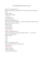 Exam: Trident MGT407 Module 4 Quiz 2017